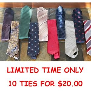 💲💲💲💲💲 10 TIES ON SALE FOR LIMITED TIME ONLY